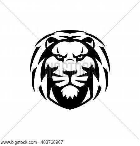 Lion Head Luxury Logo Icon Template. Elegant Lion Logo Design. Elegant Lion Symbol Vector Illustrati