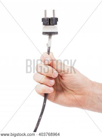 Old Vintage  Extension Cord Isolated On White Background