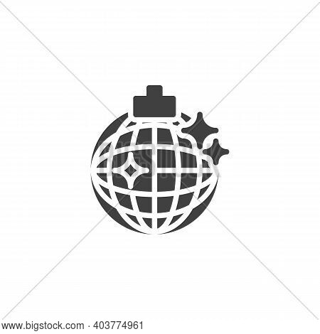 Disco Ball Vector Icon. Filled Flat Sign For Mobile Concept And Web Design. Disco Party Ball Glyph I