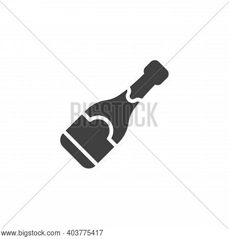 Champagne Bottle Vector Icon. Filled Flat Sign For Mobile Concept And Web Design. Champagne Bottle G