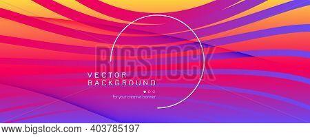 Colorful Fluid Shape. Flow 3d Liquid. Curve Futuristic Lines. Technology Fluid Shape. Wavy Banner. F