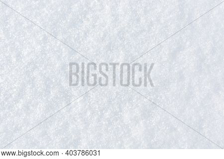 Fresh Clean Snow Background. Frosty Winter Texture With Snowflakes For Design.