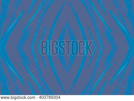 Seamless Animal Pattern. Watercolor Safari Background. Zebra Skin. Gray Fashion Fabric. Blue Wild Ba