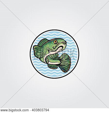 Channa Snakehead Fish Mascot Logo Vector Symbol Illustration Design