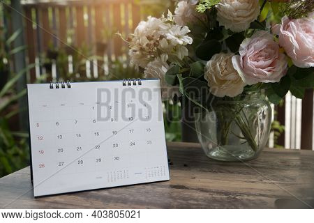Calendar Desk For Planner And Organizer To Plan And Reminder Daily Appointment, Meeting Agenda, Sche