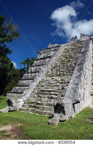 Small Ancient Mayan Pyramid