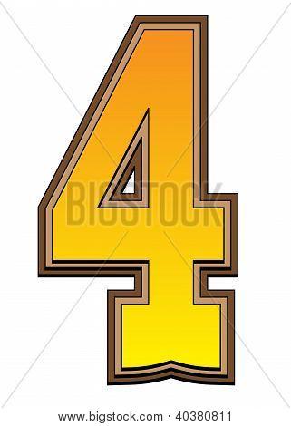 Western Alphabet Number  - 4