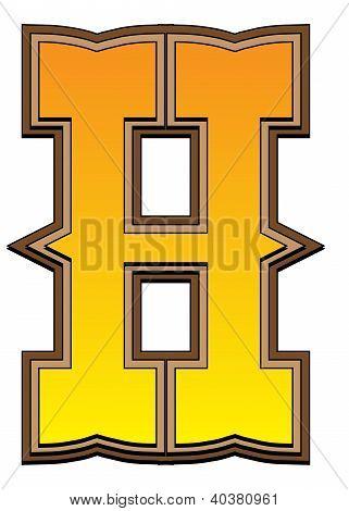 Western Alphabet Letter - H