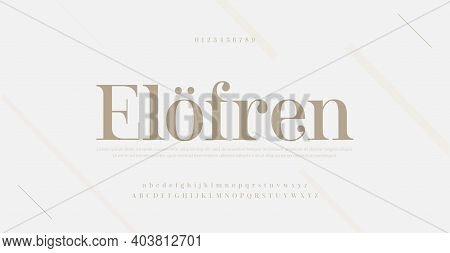 Elegant Modern Alphabet Letters Font And Number. Classic Lettering Minimal Fashion Designs. Typograp