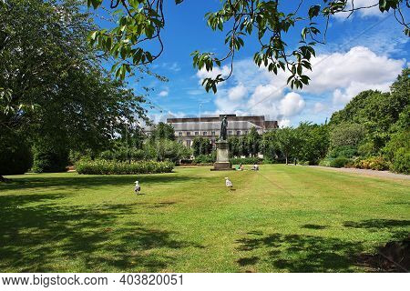 Cardiff, Wales, Uk - 30 Jul 2013: The Garden In Cardiff City, Wales, Uk