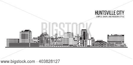 Cityscape Building Abstract Simple shape and modern style art Vector design - huntsville city