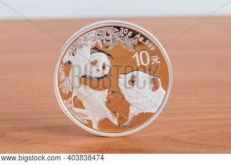 Chinese Silver Panda Is A Series Of Silver Bullion Coins Issued By The People's Republic Of China. 1
