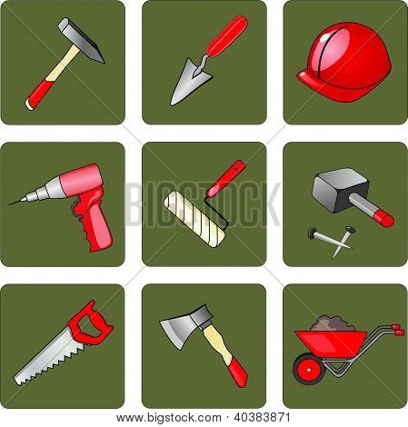 instruments and tools for the construction and repair