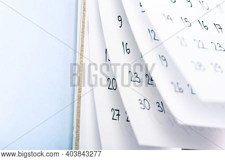 Abstract Blur Calendar For 2021 Month Schedule To Make An Appointment Or Manage The Schedule Every D