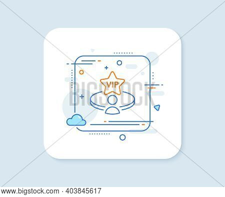 Vip Casino Table Line Icon. Abstract Square Vector Button. Very Important Person Service Sign. Membe