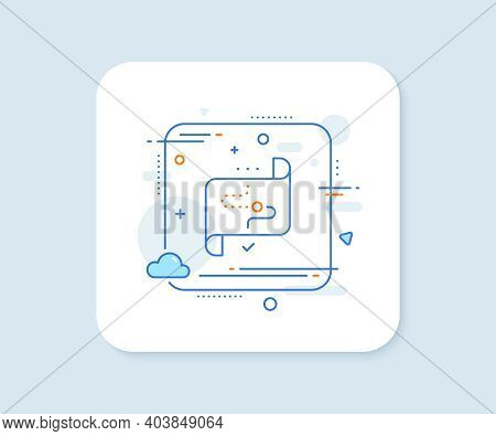 Target Path Line Icon. Abstract Square Vector Button. Stratery Goal Sign. Core Value Symbol. Target