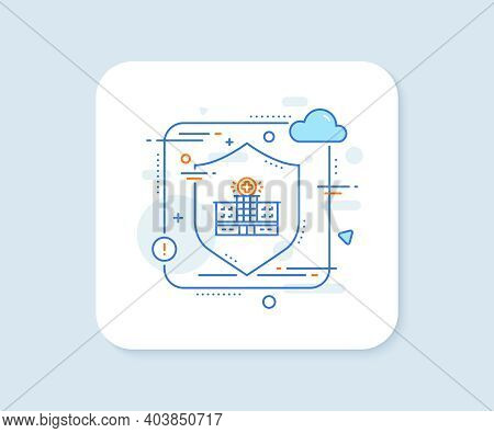 Hospital Building Line Icon. Abstract Vector Button. Medical Help Sign. Hospital Building Line Icon.
