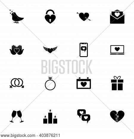 Love Icon - Expand To Any Size - Change To Any Colour. Perfect Flat Vector Contains Such Icons As Va