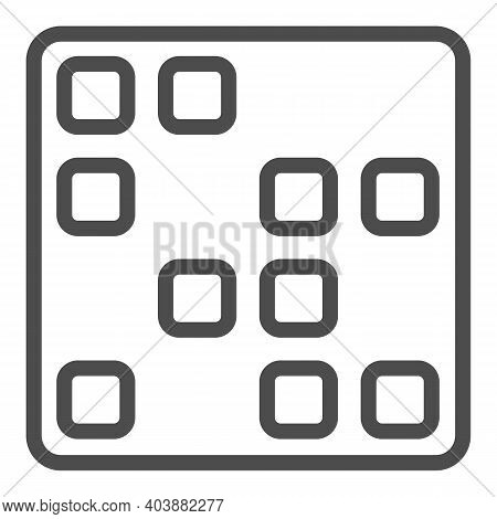 Computer Program Line Icon, Black Bookkeeping Concept, Application Software Sign On White Background
