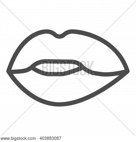 Lips Line Icon, Passion Concept, Kiss Sign On White Background, Lips Icon In Outline Style For Mobil