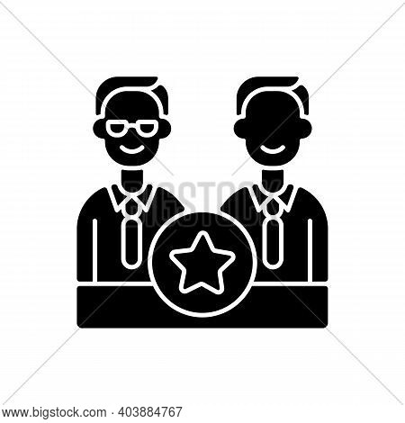 Directorate Black Glyph Icon. Membership On Directors Board. Executive Staff. Specialised Administra