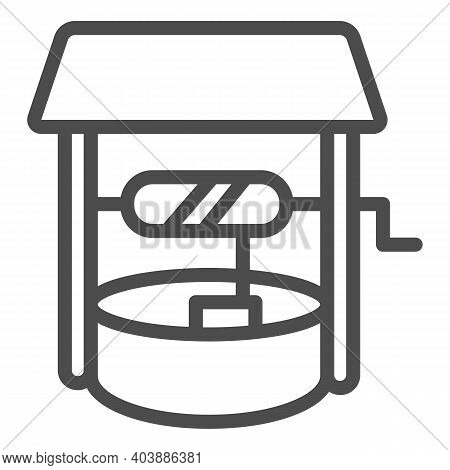 Water Well Line Icon, Farm Garden Concept, Draw-well Sign On White Background, Well Icon In Outline