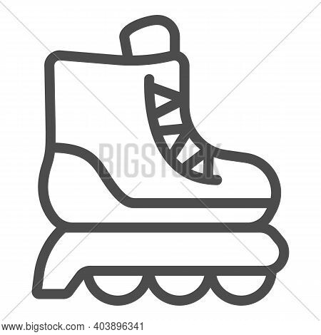Roller Skates Line Icon, Kid Toys Concept, Skating Shoe Sign On White Background, Sport Shoe Icon In