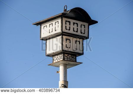 Street Lamp, Candelabra, Made In A Shaped House