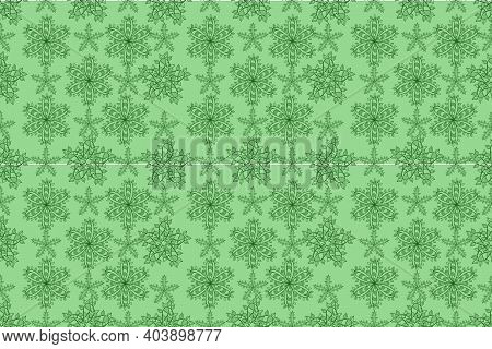Seamless Pattern With Interesting Doodles On Colorfil Background. Pano. Raster Illustration.