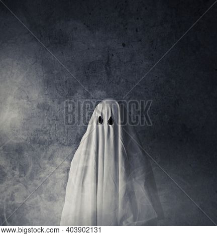 Ghost in a white sheet