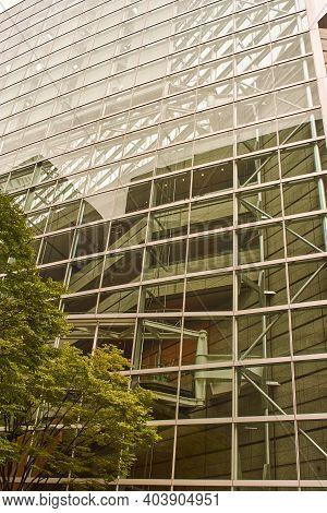 Tokyo / Japan - October 20, 2017: The Tokyo International Forum Is A Multi-purpose Exhibition Center