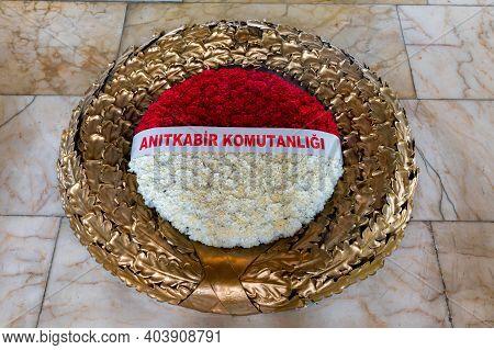 Ankara, Turkey - 14 December 2020: Mausoleum Of Ataturk In Anitkabir Interior