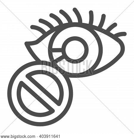Loss Of Sight Line Icon, Disability Concept, Blindness Sign On White Background, Loss Of Sight Icon