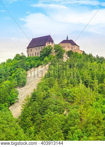 Tocnik Castle - Medieval Residence Of The King Wenceslas Iv, Czech Republic.