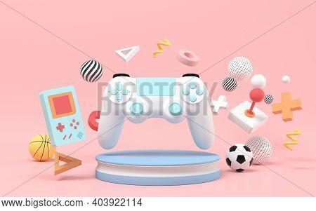 Creative Recreational Toys, Entertainment Theme, 3D Rendering.