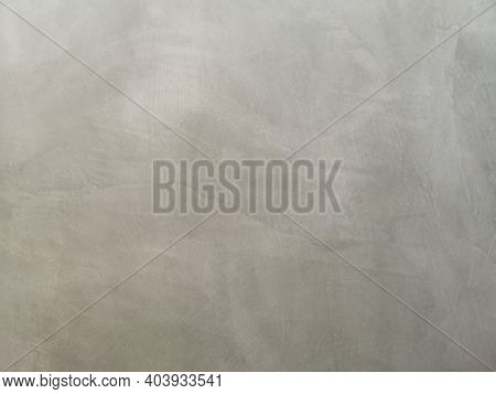 Cement Wall Plaster, Spread On Concrete Polished Textured Background Abstract Grey Color Material Sm