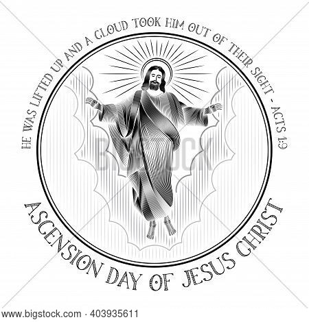 An Illustration Of The Ascension Day Of Jesus Christ