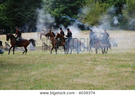 American Civil War Re-Enactors.