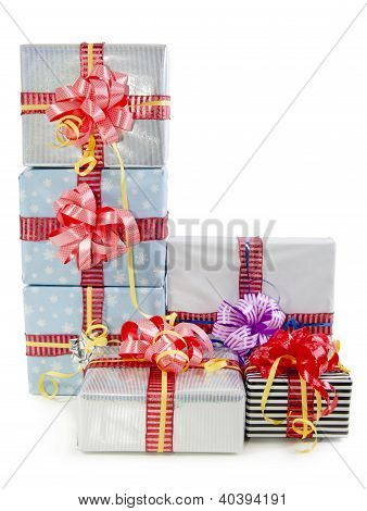 Christmas Gifts Boxes Isolated