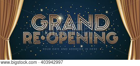 Grand Opening And Re-opening Vector Illustration, Background For New Store