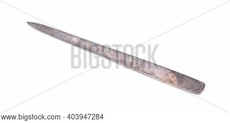 Old Letter Opener Isolated On A White Background