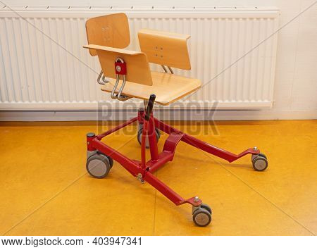 Special Chair For Disabled Children, Adjusted Chair That Can Be Used At A School Desk