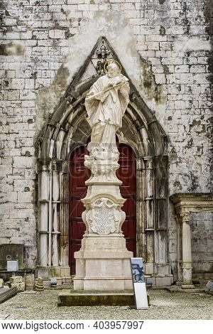 Ruins Of Carmo Convent, An Archaeological Museum In Lisbon, Portugal. Ruins Of The Convent Of Our La