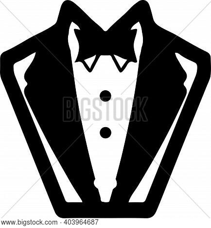 Tuxedo Icon Isolated On White Background , Male, Men, Person