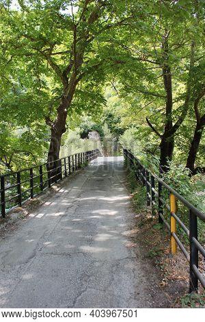 Aristi Bridge On The Voidomatis River Epirus Greece