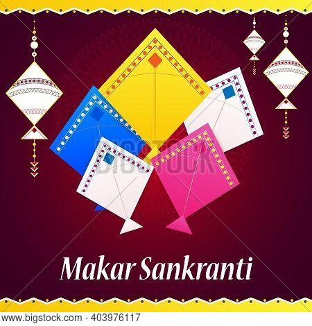 Happy Makar Sankranti Holiday India Festival Background