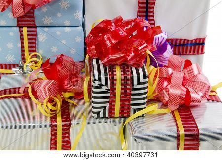 Colored Christmas Gifts Boxes Texture