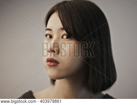portrait of a young asian woman