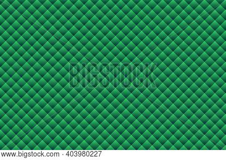 Green Geometric Shapes Background - Illustration,  Three Dimensional Mosaic Vector