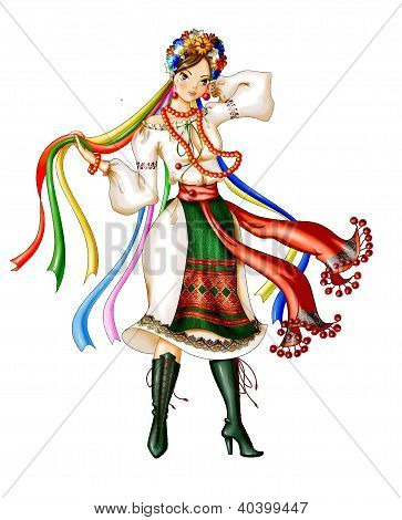 Ukrainian woman in traditional clothes